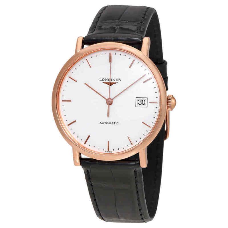 Longines La Grande Classique 18kt Rose Gold Automatic White Dial Men Watch