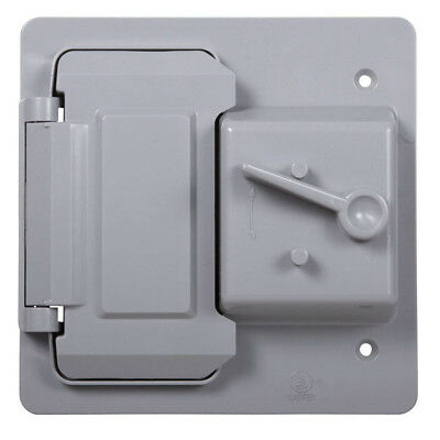 Hubbell Taymac 2-gang Rectangle Plastic Weatherproof Electrical Box Cover New