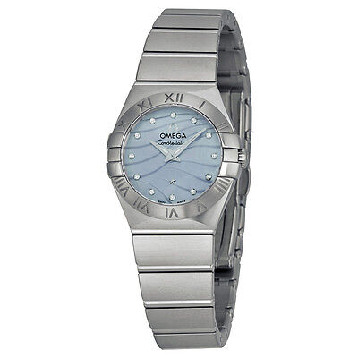 Omega Constellation Blue Mother of Pearl Dial Ladies Watch 123.10.24.60.57.001