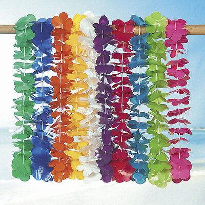 100 assorted Leis 10 colors LUAU BEACH TROPICAL PARTY FAVOR - Bulk Leis