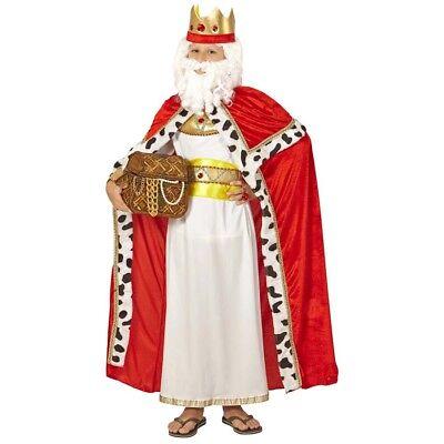 KINDER UMHANG & KRONE Weihnachten Balthasar Heilige drei Könige Kostüm Fest 0866