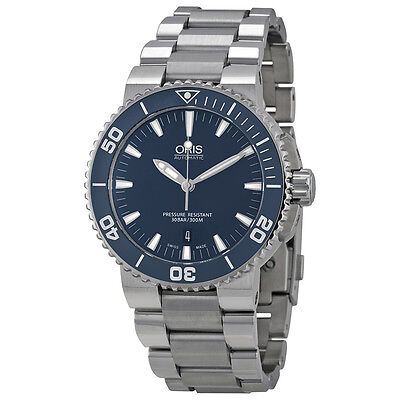 Oris Aquis Blue Dial Mens Watch 733-7653-4155MB