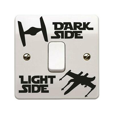 Star Wars Dark Light Side Light Ships Switch Vinyl Sticker Bedroom Removable