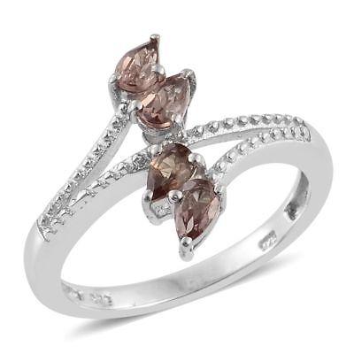 NIB $149.99 Size 5 Genuine Color Change Garnet 1.110 Cts Silver 925 Ring U15