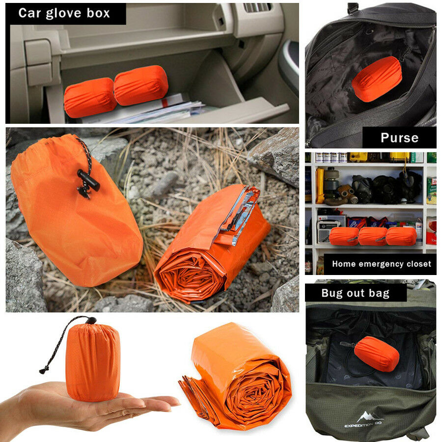 Outdoor Survival Kit Rettungs-Thermo-Schlafsack TOP