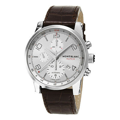 Montblanc Timewalker ChronoVoyager UTC Men's Brown Strap Automatic Watch 107065