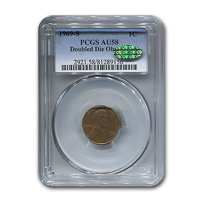 Click now to see the BUY IT NOW Price! 1969 S LINCOLN CENT DOUBLE DIE OBVERSE AU 58 PCGS CAC BROWN   SKU 117540