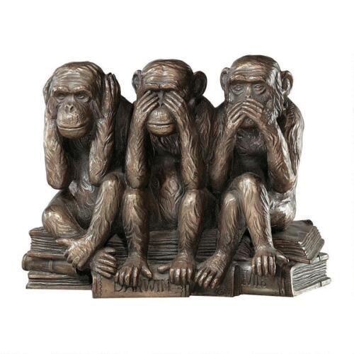 The Hear-No, See-No, Speak-No Evil Design Toscano Monkeys Finished In Bronze