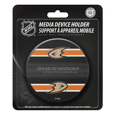 Anaheim Ducks Hockey Puck Media Device Holder Home/Office Phone Tablet