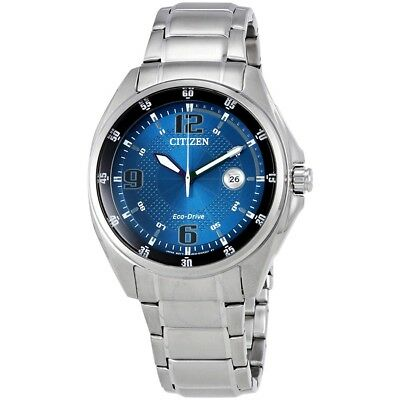 Citizen Eco-Drive Men's AW1510-54L Blue Dial Silver-Tone Bracelet 42mm Watch
