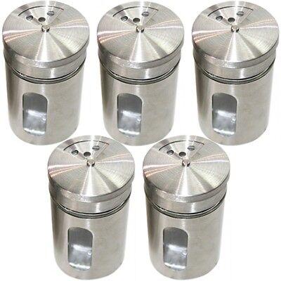 Stilvolles Gewürzstreuer-Set Aromabehälter aus Glas Streuer Edelstahl 12er-Set