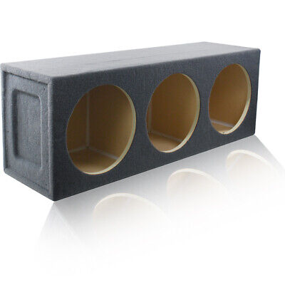 2.70 ft³ SEALED MDF SUBWOOFER ENCLOSURE SPEAKER BOX FOR (3) 12