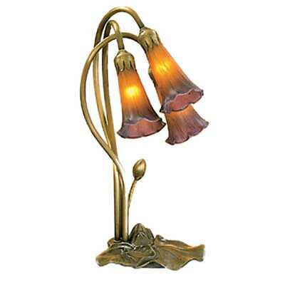 Purple Lily Accent (Meyda Lighting 16'H Amber/Purple Pond Lily 3 Lt Accent Lamp - 13674 )