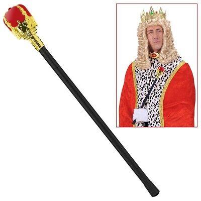 ZEPTER HERRSCHERSTAB Karneval Mittelalter Kaiser König Königin Kostüm Larp 1914 (König Zepter Kostüm)