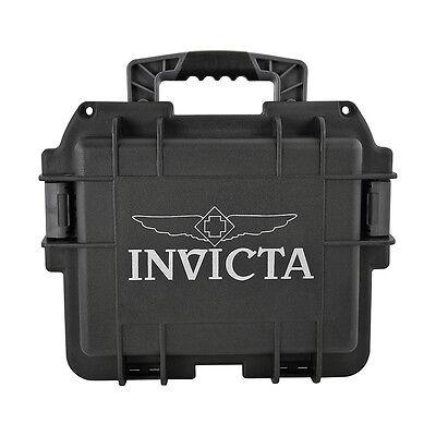 Invicta Collectors Three Slot Watch Box in Black DC3BLK