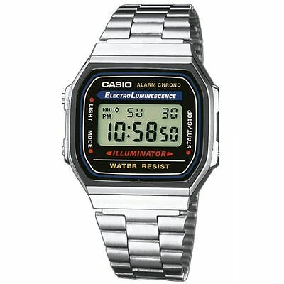 Casio A168W-1, Classic Digital Watch, Chronograph, Alarm, Day/Date, Illuminator
