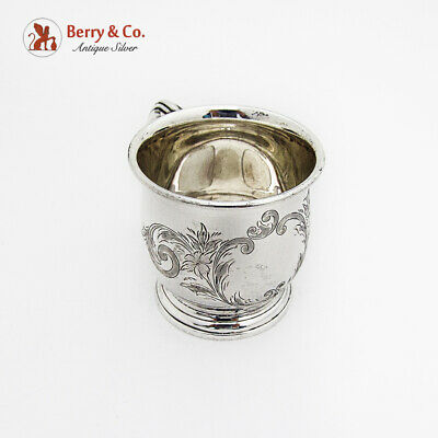 Birks Engraved Baby Childs Cup Sterling Silver Canada No Mono