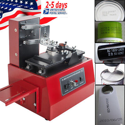 Us Stepless Speed Electric Pad Printer Printing Machine T-shirt Ball Pen Light