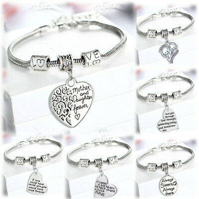 Gifts For Mother Grandma Sister Best Friends Silver Bracelet Jewelry Presents ()