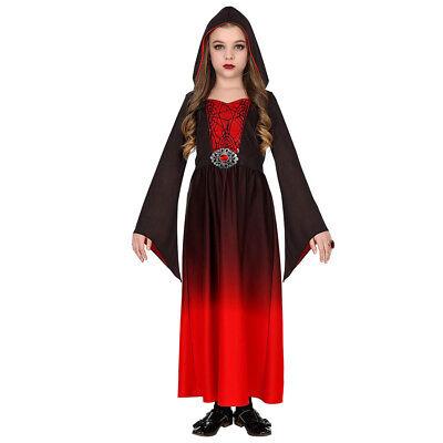 MITTELALTER VAMPIR KOSTÜM KINDER Karneval Halloween Gothik Kleid Mädchen # - Mittelalter Kleid Kostüm Mädchen