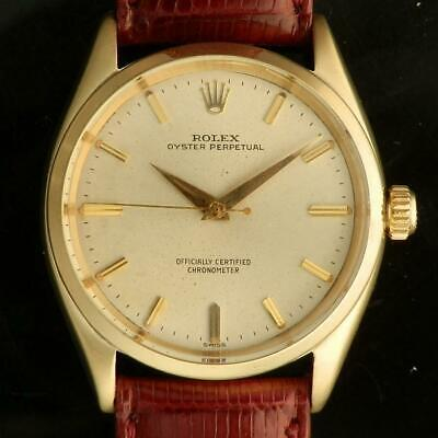 Rolex Oyster Perpetual 750/18K Yellow Gold Automatic Watch Ref. 6564