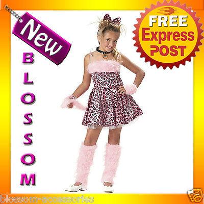 CK21 Purrty Kitty Pink Leopard Jungle Fancy Dress Party Child Halloween - Purrty Kitty Child Costume