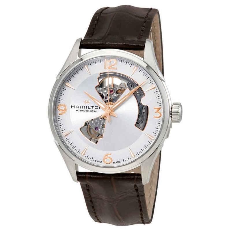 Hamilton Jazzmaster Open Heart Silver Dial Men Watch H32705551