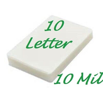 10 Letter Laminating Pouches Laminator Sheets 10 Mil 9 X 11.5 Scotch Quality