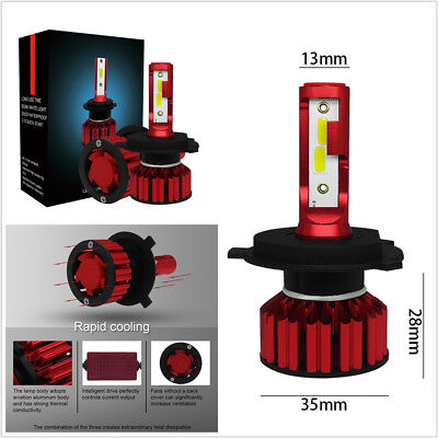 One Pair Super Bright LED 100W 12000LM Car H4 9003 HB2 Headlight Hi/Lo Beam Bulb