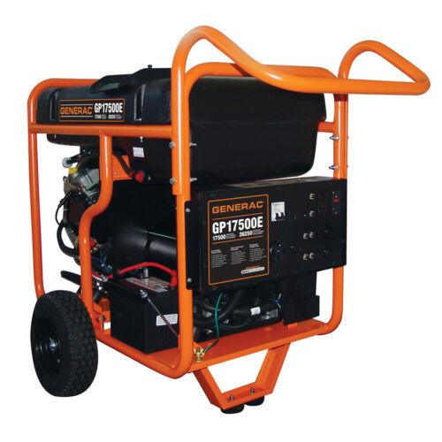 New Generac GP17500E Electric Start Portable Generator Gas Powered Back Up Power