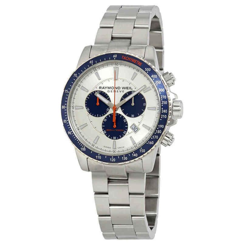 Raymond Weil Tango Chronograph Quartz Silver Dial Men Watch 8570-ST3-65501