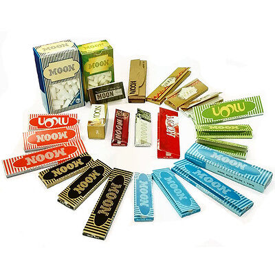 Moon Whole Size Combo Tobacco Rolling Papers Filter Tips Whole Family Pack