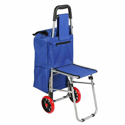 Multipurpose Folding Shopping Cart Laundry Bag Utility Market Trolley Hand Truck