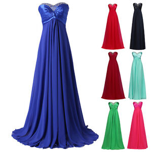 2016 sexy beaded long wedding evening prom bridesmaid dress ball gown plus size. Black Bedroom Furniture Sets. Home Design Ideas