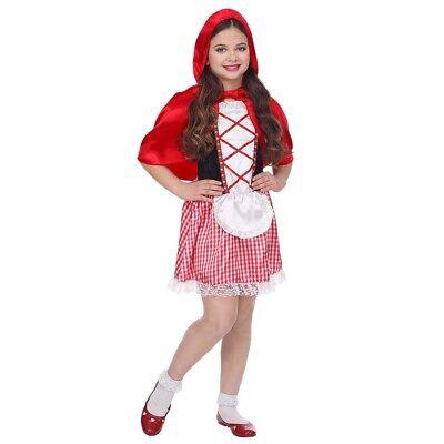 KINDER ROTKÄPPCHEN KOSTÜM Karneval Märchen Mädchen Kleid Cape Umhang Kapuze (Rotkäppchen Kostüm Mädchen)