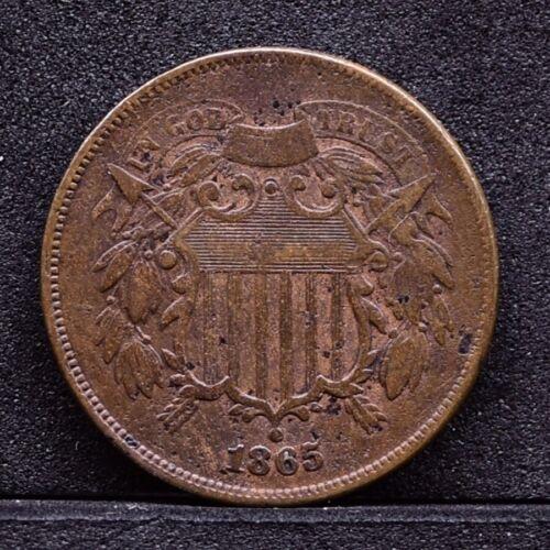 1865 Two Cent Piece - Fine (#30956)