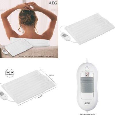Cojin almohada almohadilla Termica eléctrica 30x40 cm, 3 niveles de calor, 100...
