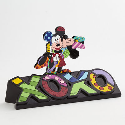 Disney Britto Mickey and Minnie Mouse Lovers Kiss XOXO Figurine VALENTINES GIFT