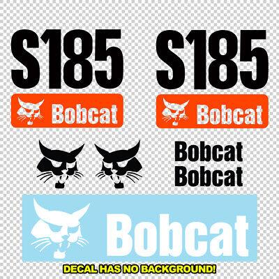 Bobcat S185 S 185 New Skid Steer Set Vinyl Decal Sticker - Aftermarket