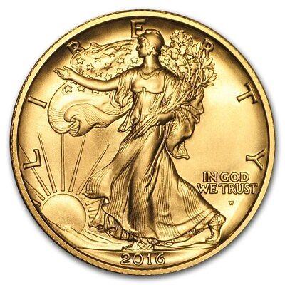 SPECIAL PRICE! 2016-W 1/2 oz Gold Walking Liberty Half Dollar Centennial(w/OGP)