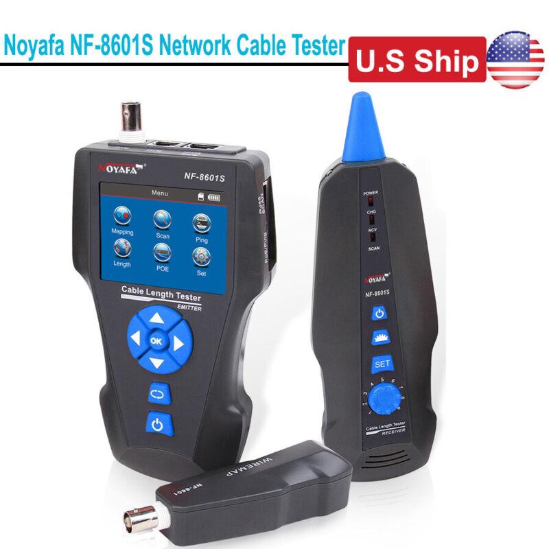 USA Ship TDR LCD Network Cable Tester Tracker RJ45/RJ11/BNC Length Test NF-8601S