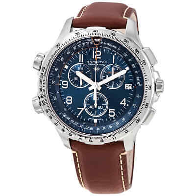 Hamilton Khaki X-Wind Chronograph Quartz Blue Dial Men's Watch H77922541