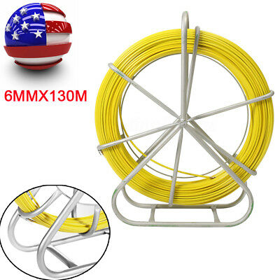 Fiberglass Wire Cable Running Rod Duct Rodder Fishtape Puller 6mm 130m