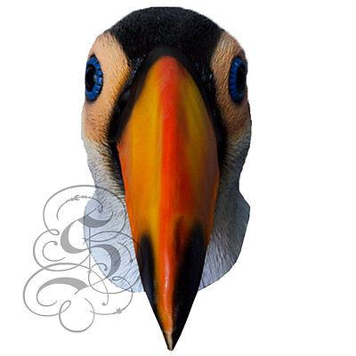 Latex Full Head Animal Bird Toucan Popular Fancy Dress Up Carnival Party - Toucan Kostüm
