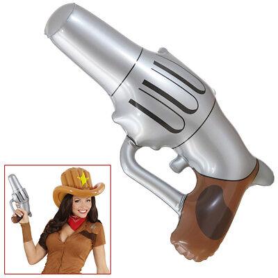 AUFBLASBARER COLT Karneval Cowboy Gangster Pistole Waffe Kostüm - Aufblasbare Pistole