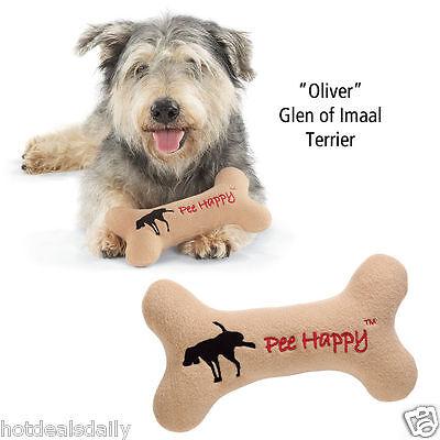 - DON'T WORRY PEE HAPPY DOG BONE SQUEAKY TOY POLYFLEECE PUPPY PET CHEW TOYS