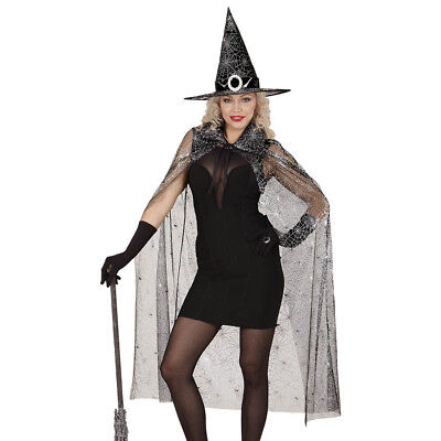 SPINNEN UMHANG UND HUT # Halloween Karneval Spinnennetz - Spinnennetz Hexe Kostüme
