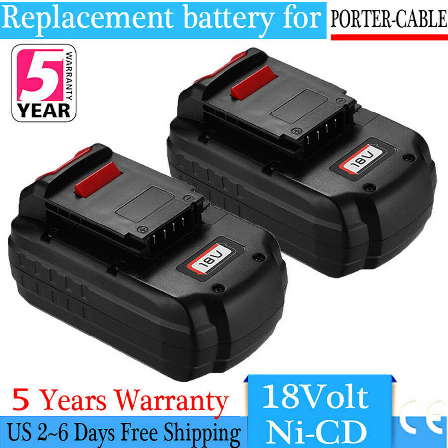 2-Pack 18V Battery For PORTER-CABLE PC18B PCC489N 18V NiCd C