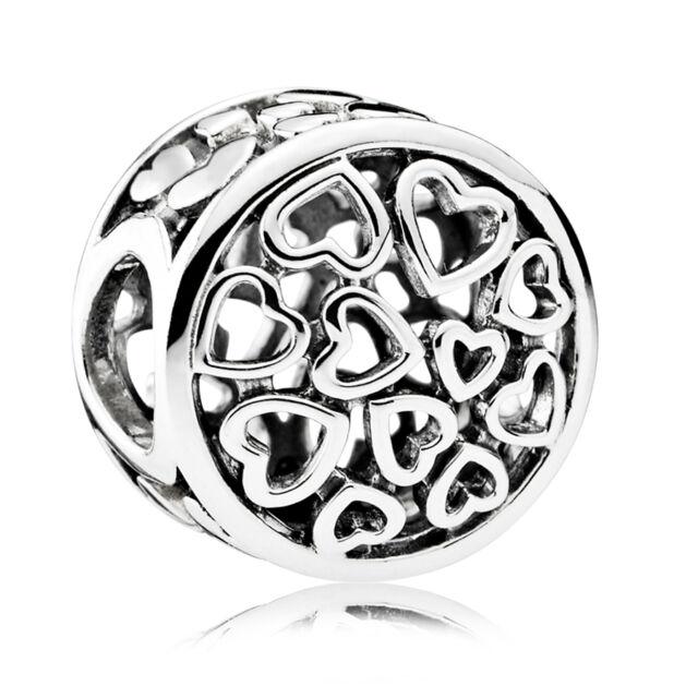 Original PANDORA Silber Element 791980 Charm Liebes-Gefühle