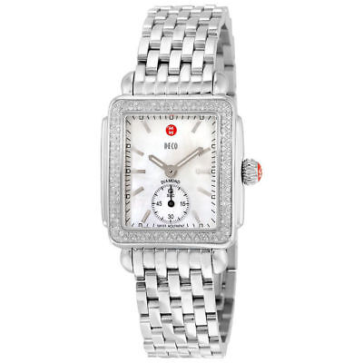 NEW Authentic Michele Deco 16 Mid Diamond MWW06V000001 Ladies Watch